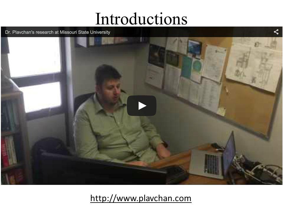 Introductions http://www.plavchan.com
