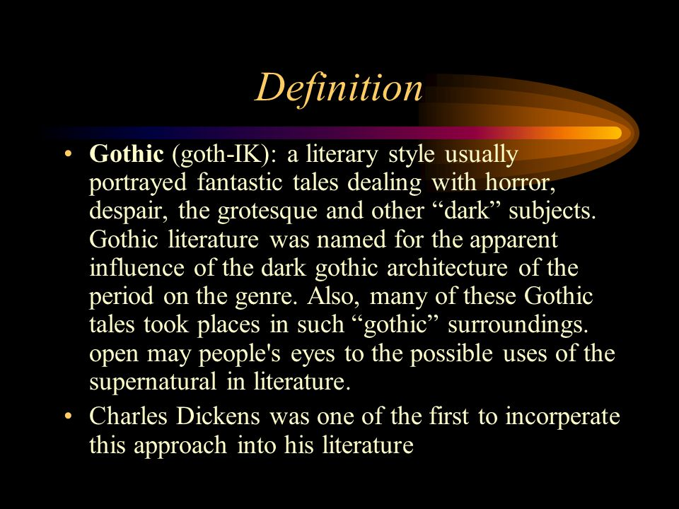 gothic literature. - ppt download, Powerpoint templates