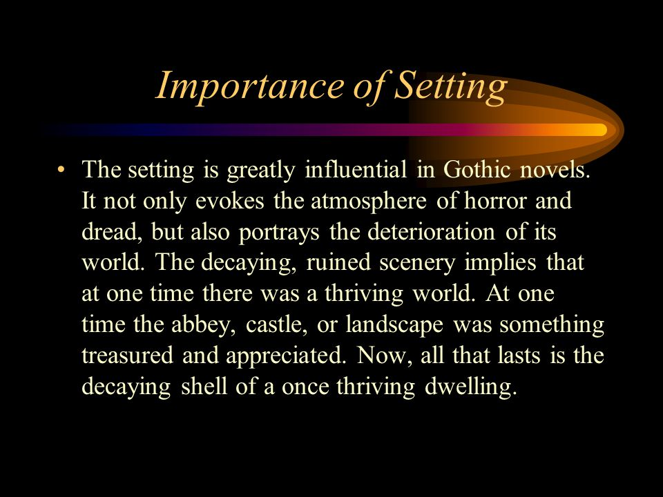 importance of setting in literature