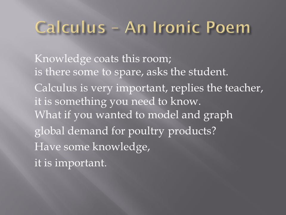 Calculus – An Ironic Poem