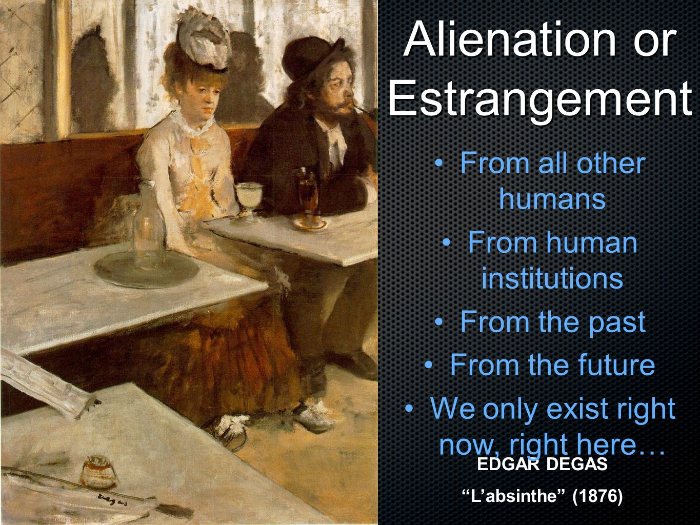 Alienation or Estrangement