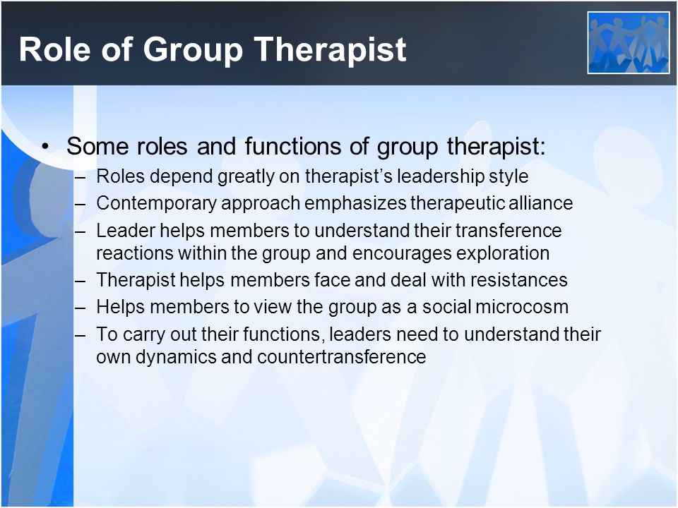 Role of Group Therapist