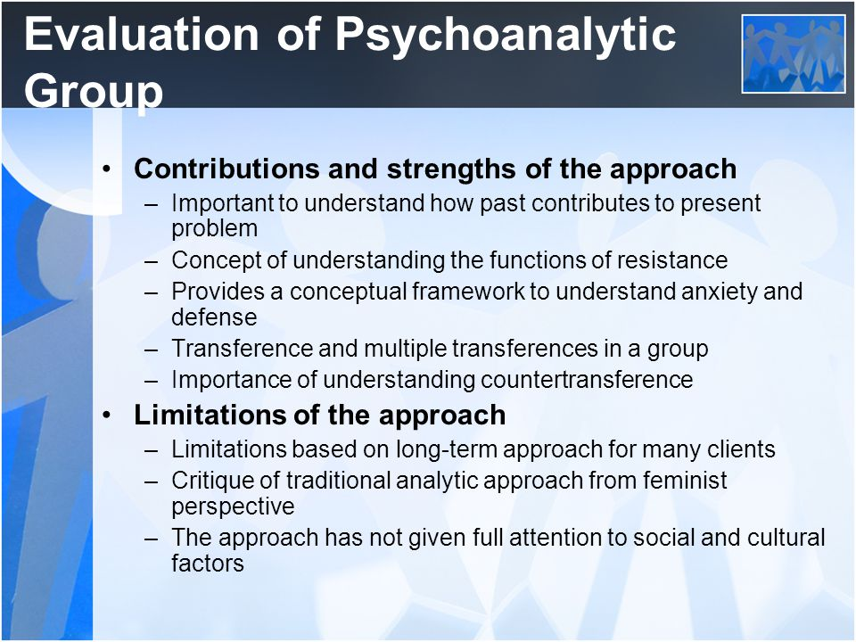 Evaluation of Psychoanalytic Group