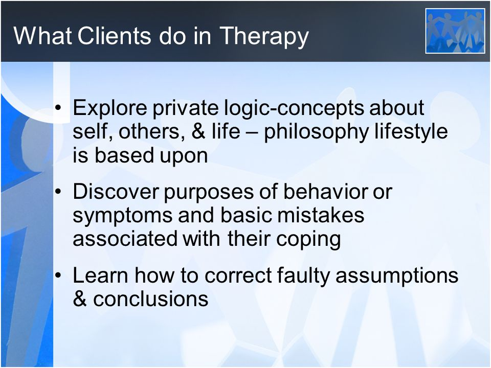 What Clients do in Therapy