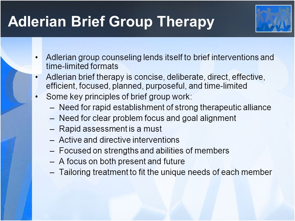 Adlerian Brief Group Therapy