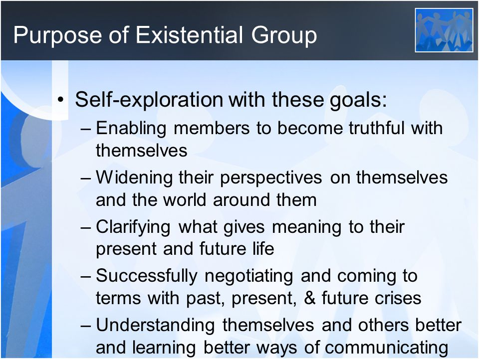 Purpose of Existential Group