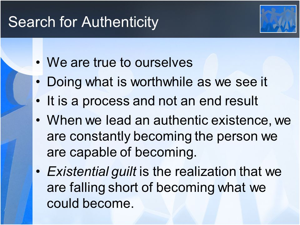 Search for Authenticity