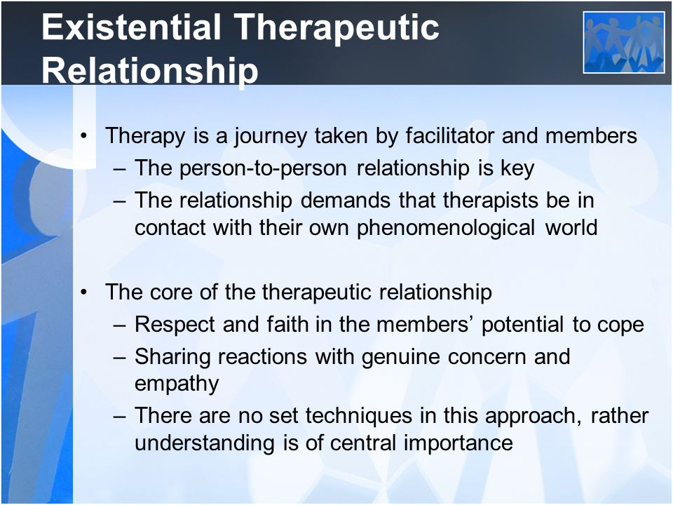 Existential Therapeutic Relationship