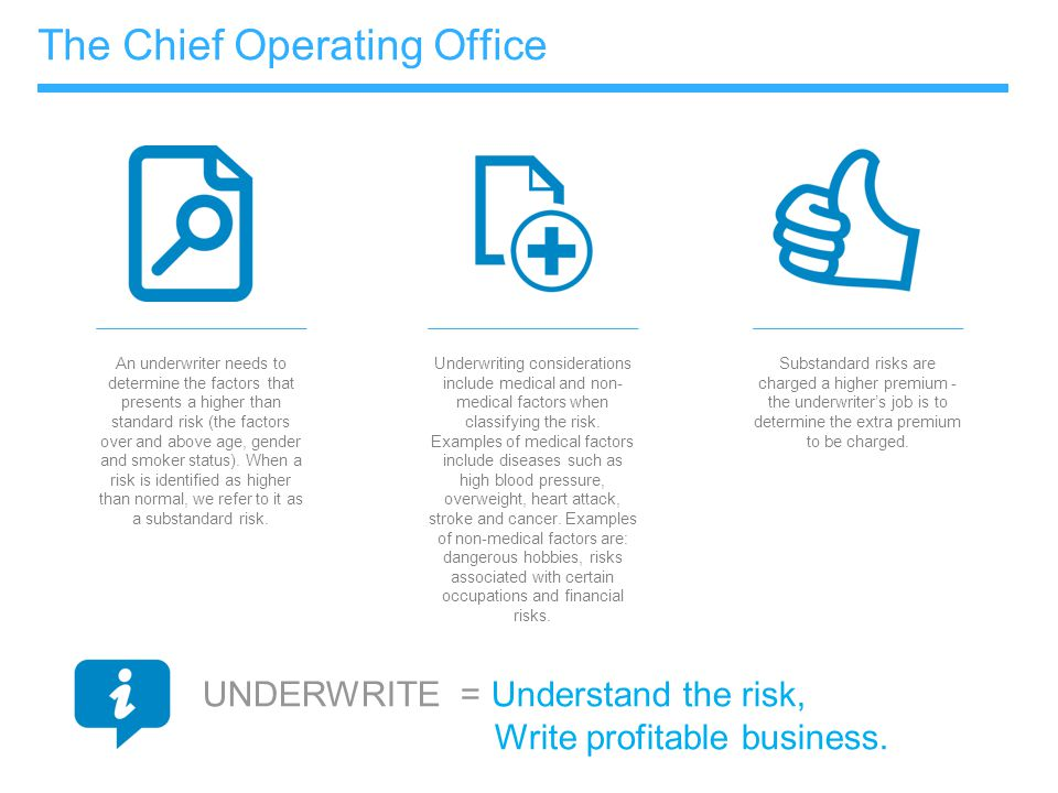 The Chief Operating Office