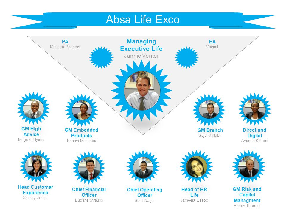 Absa Life Exco Managing Executive Life Jannie Venter PA EA