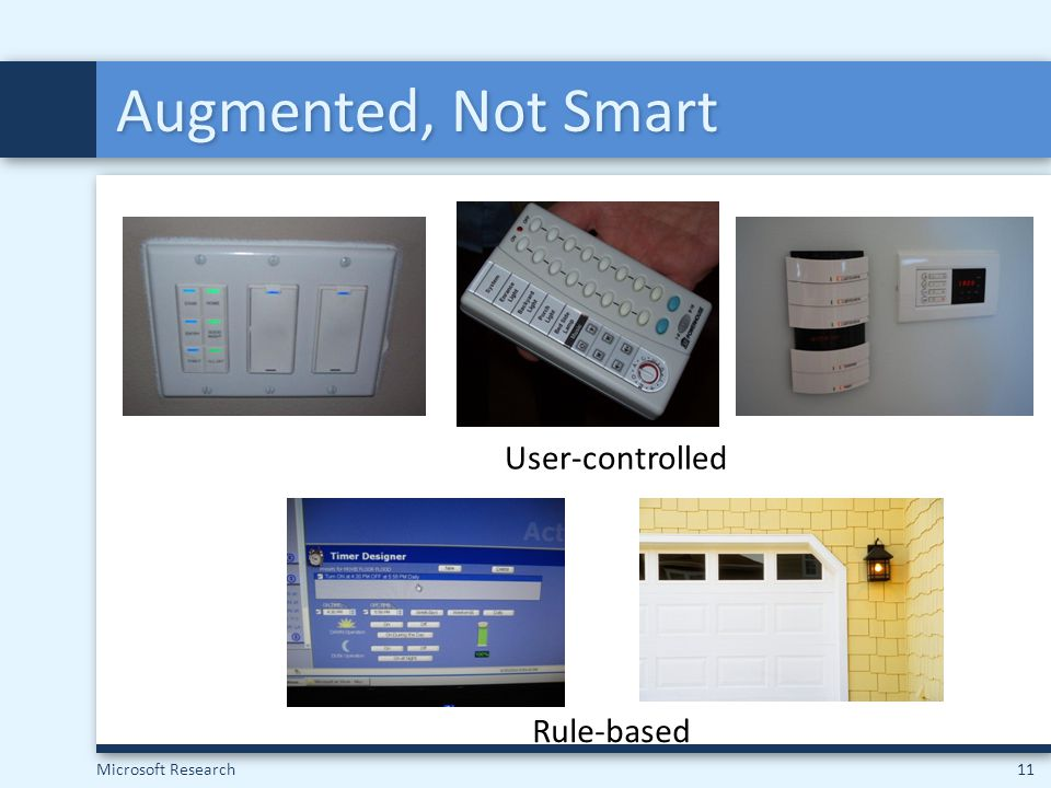 Augmented, Not Smart User-controlled Rule-based