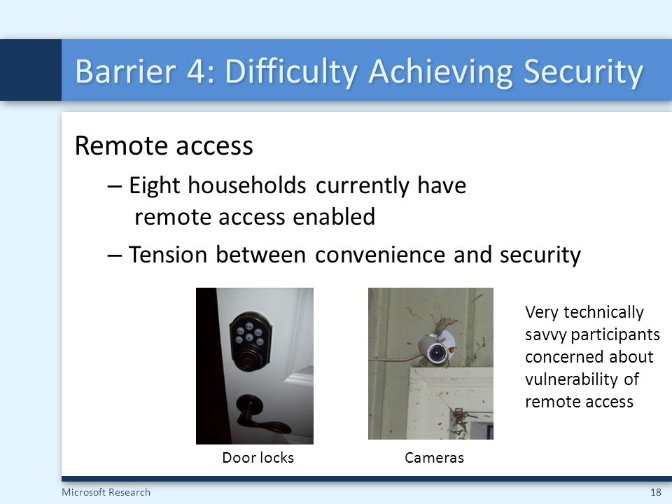 Barrier 4: Difficulty Achieving Security