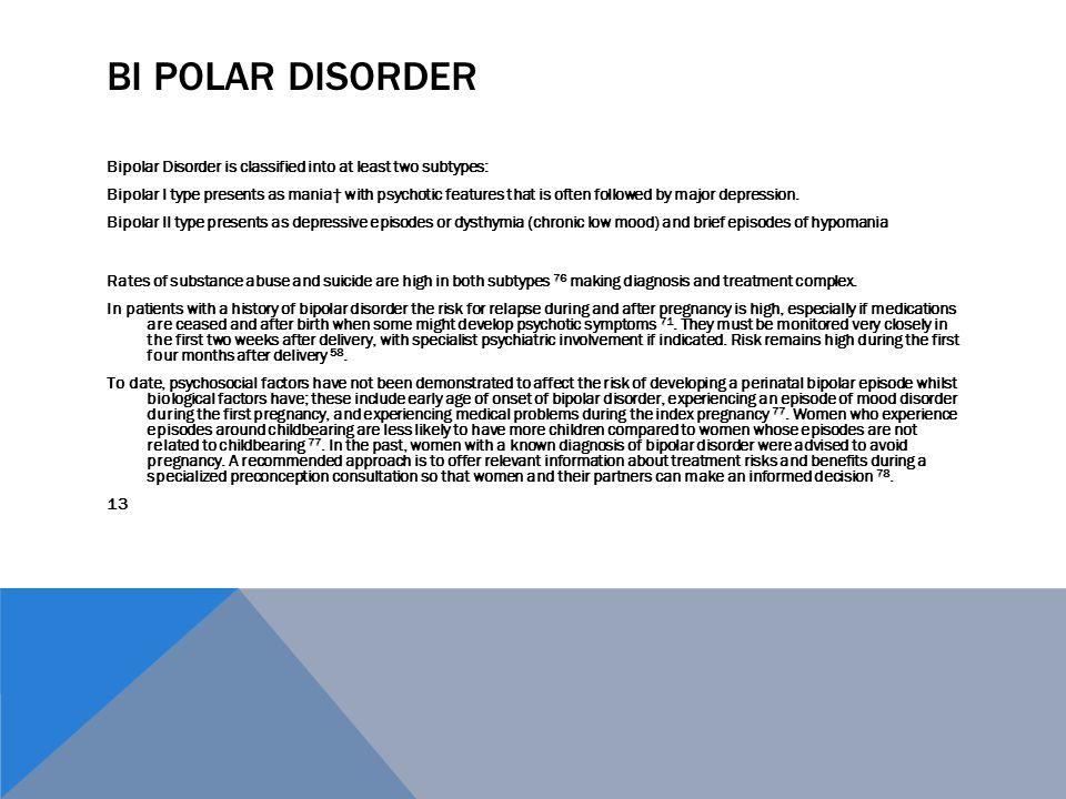 Bi Polar Disorder