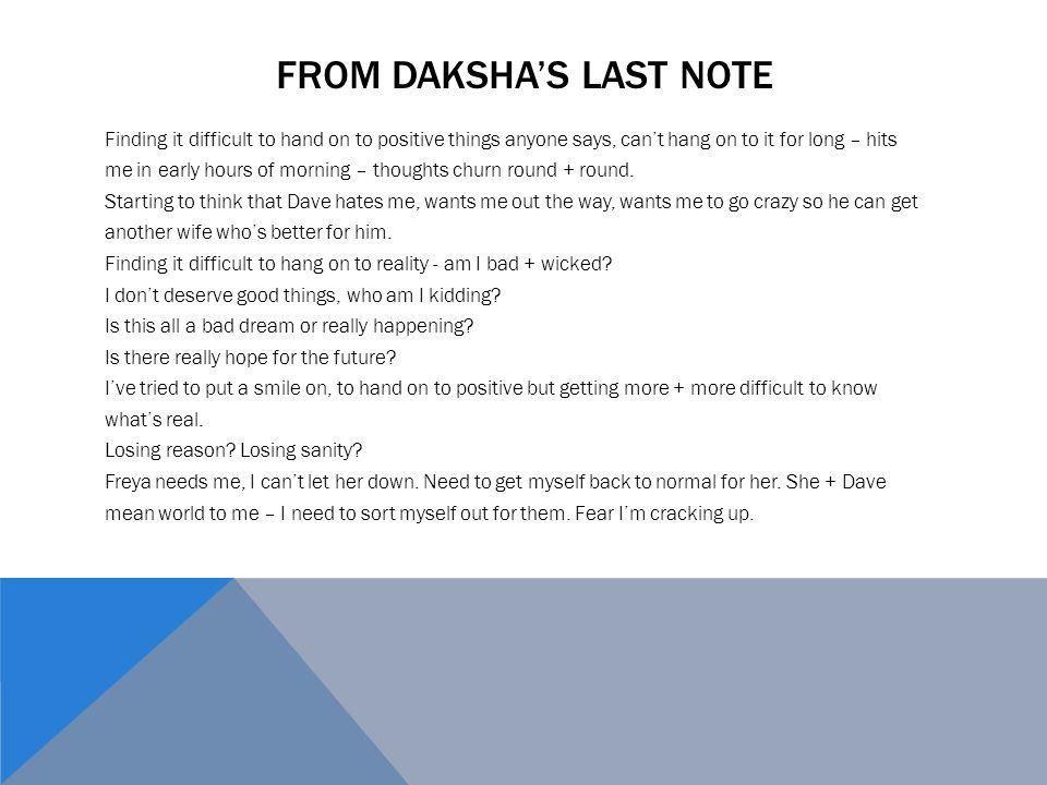 From Daksha's last note