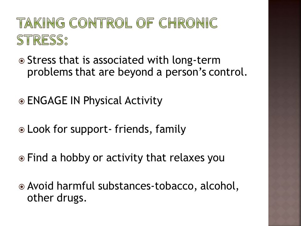 Taking Control of Chronic Stress: