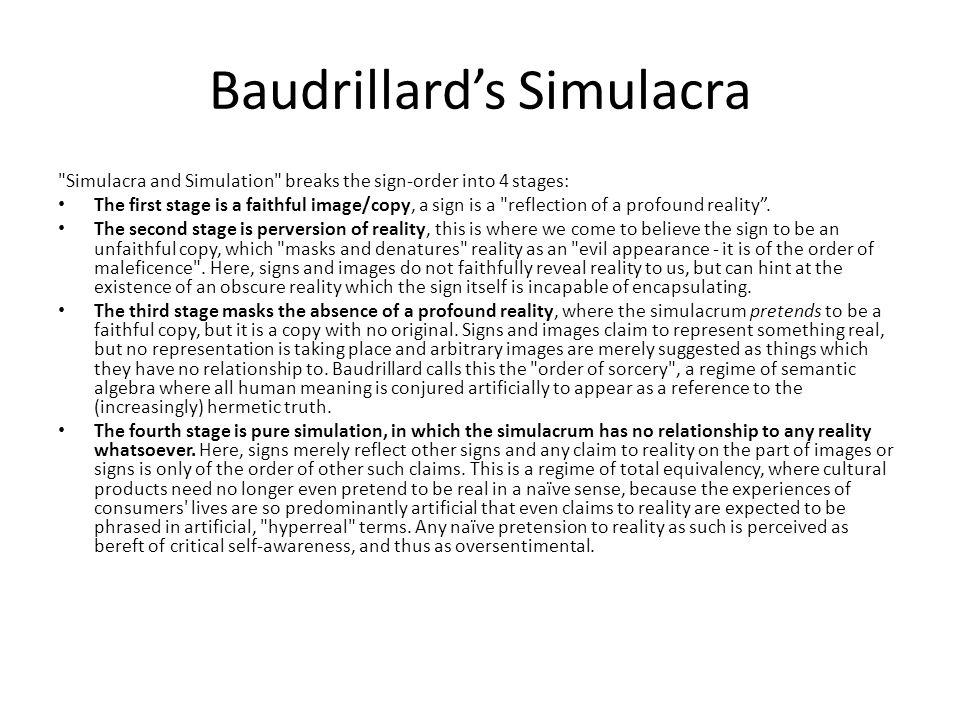 Baudrillard's Simulacra