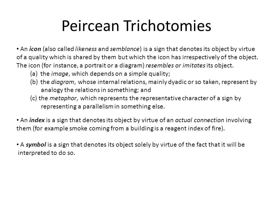 Peircean Trichotomies