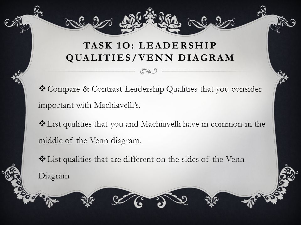 Task 1o: Leadership Qualities/Venn diagram