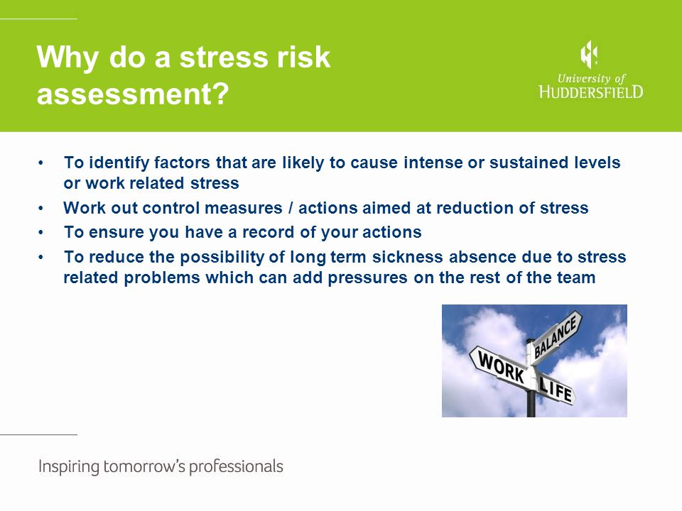 Why do a stress risk assessment