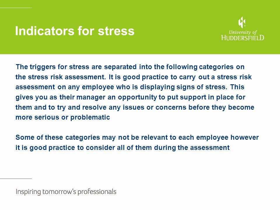 Indicators for stress