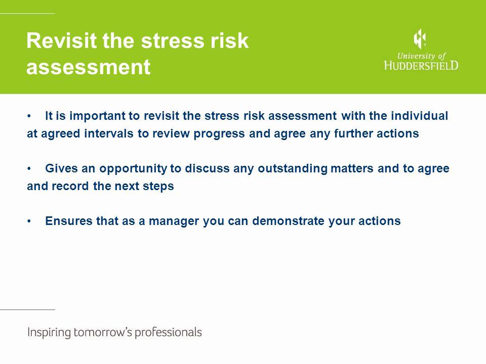 Revisit the stress risk assessment
