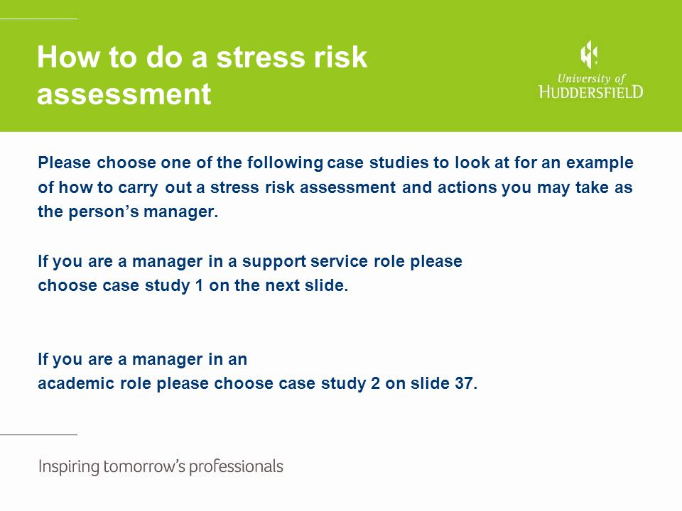 How to do a stress risk assessment