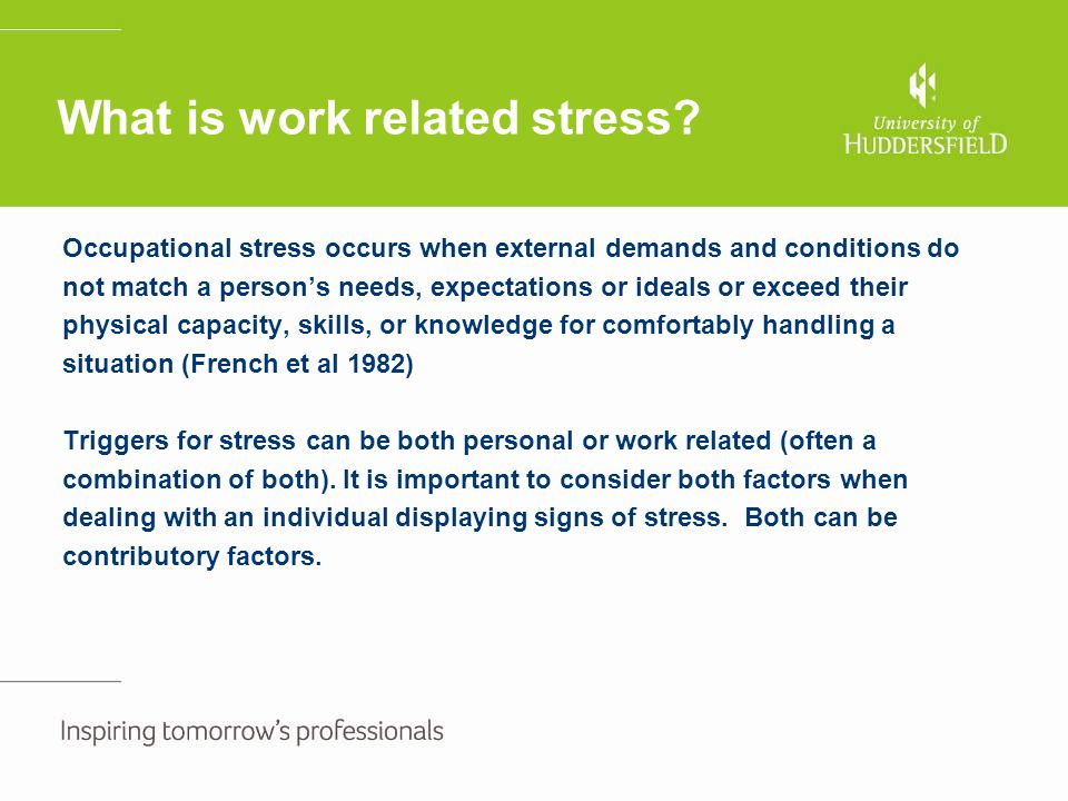 What is work related stress