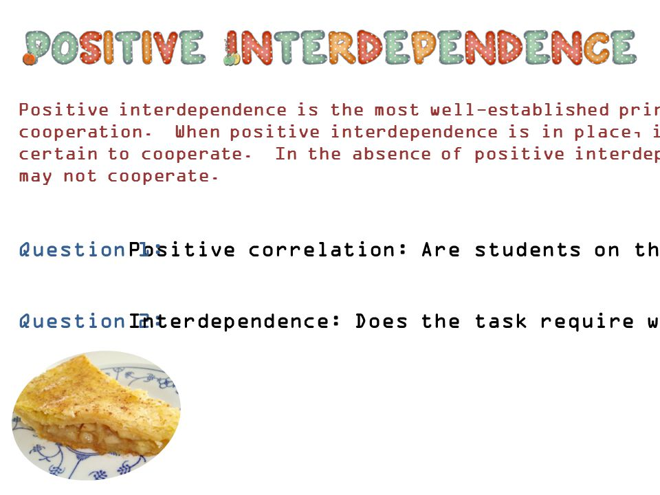 Positive correlation: Are students on the same side