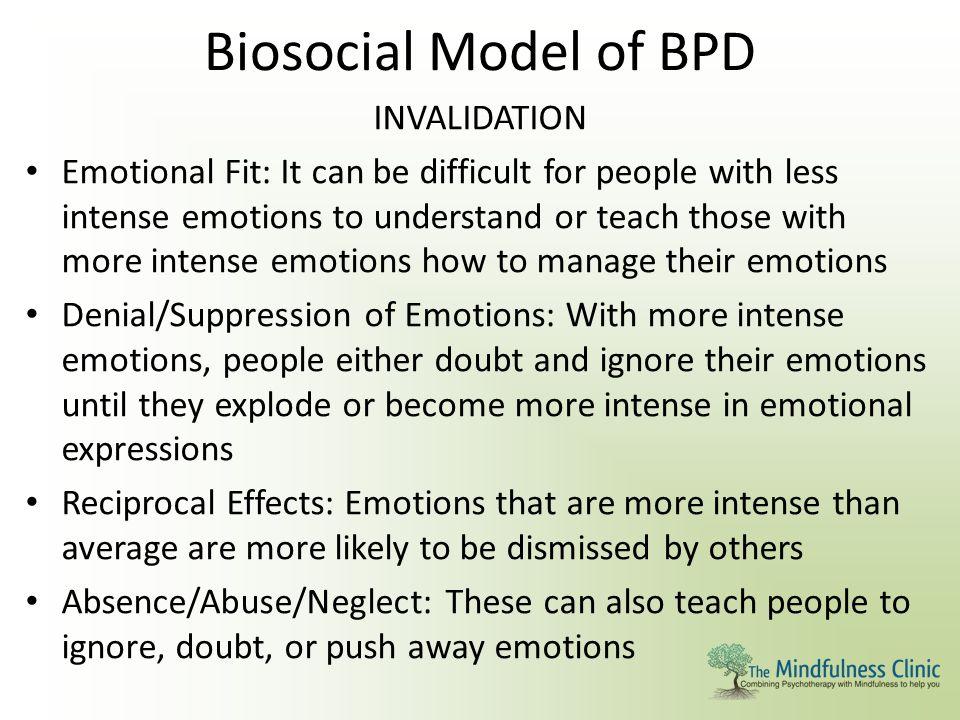 Biosocial Model of BPD INVALIDATION