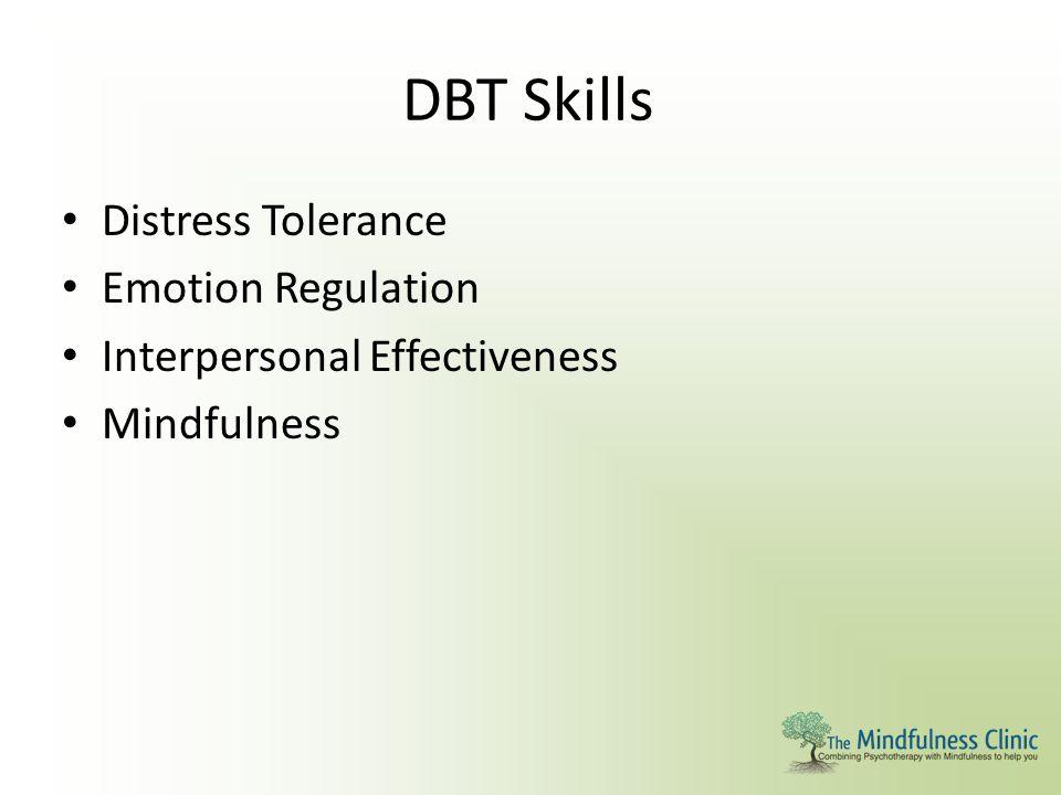 DBT Skills Distress Tolerance Emotion Regulation