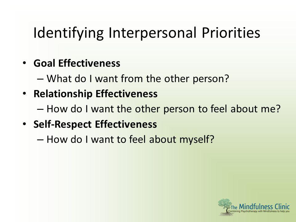 Identifying Interpersonal Priorities