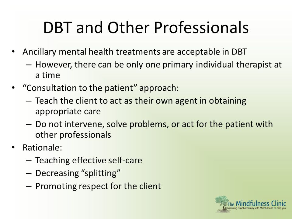 DBT and Other Professionals