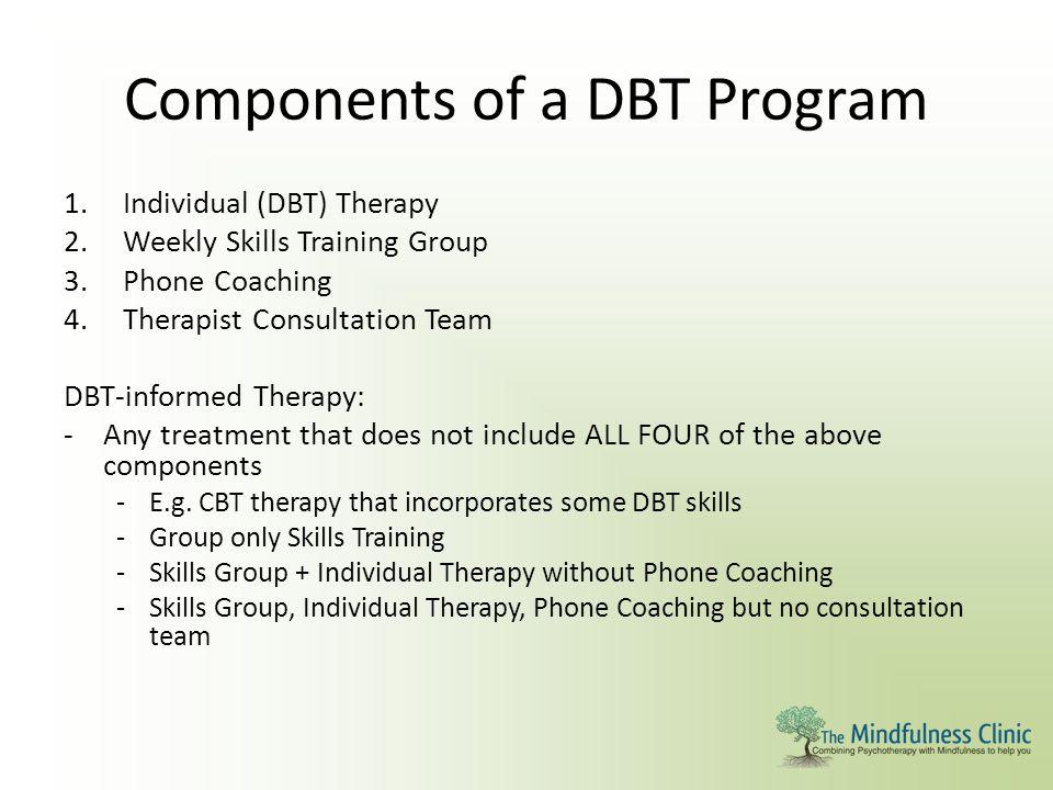 Components of a DBT Program
