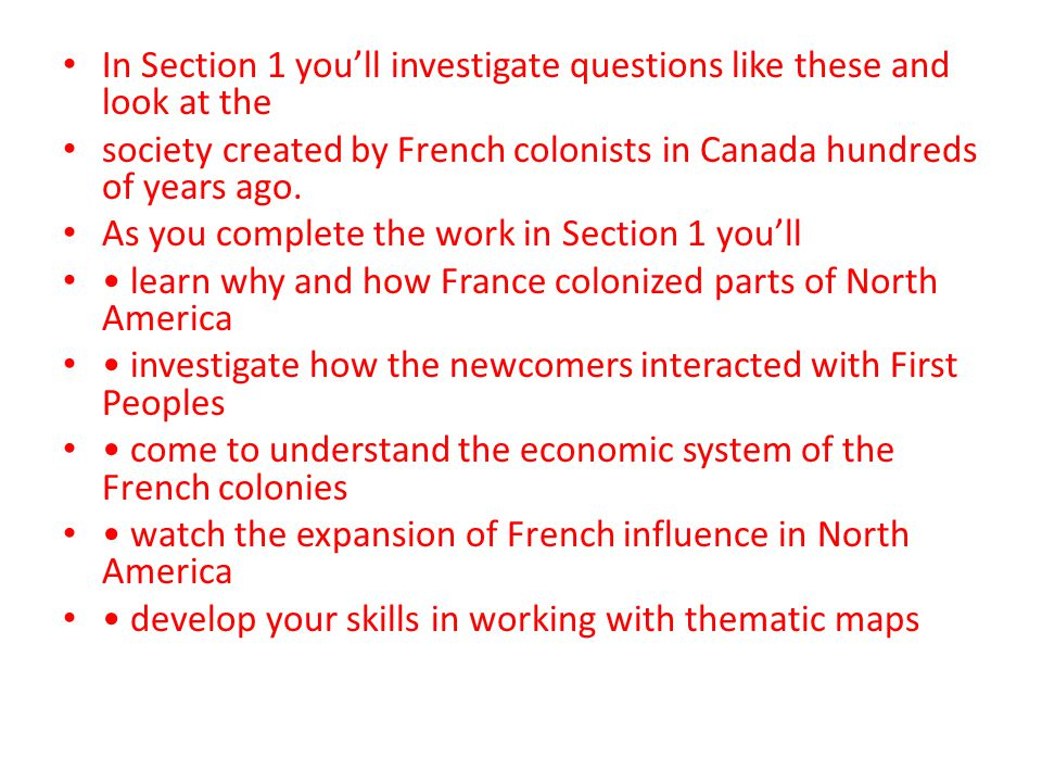 In Section 1 you'll investigate questions like these and look at the