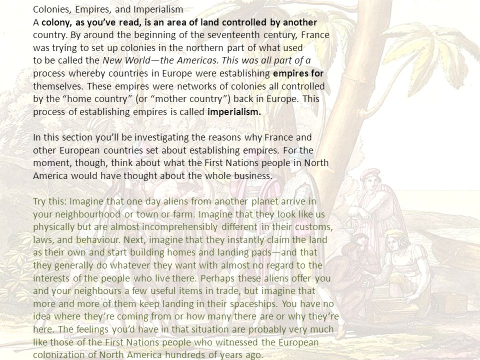 Colonies, Empires, and Imperialism