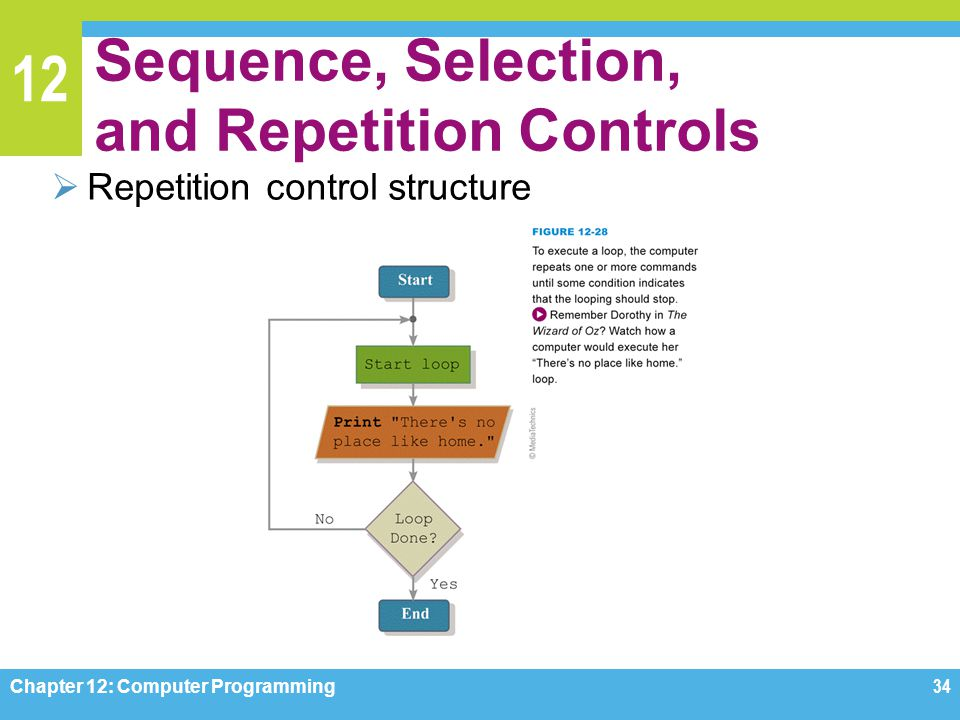 Sequence, Selection, and Repetition Controls