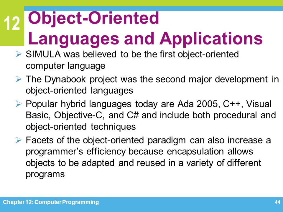 Object-Oriented Languages and Applications