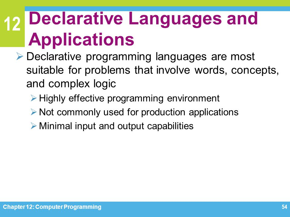 Declarative Languages and Applications