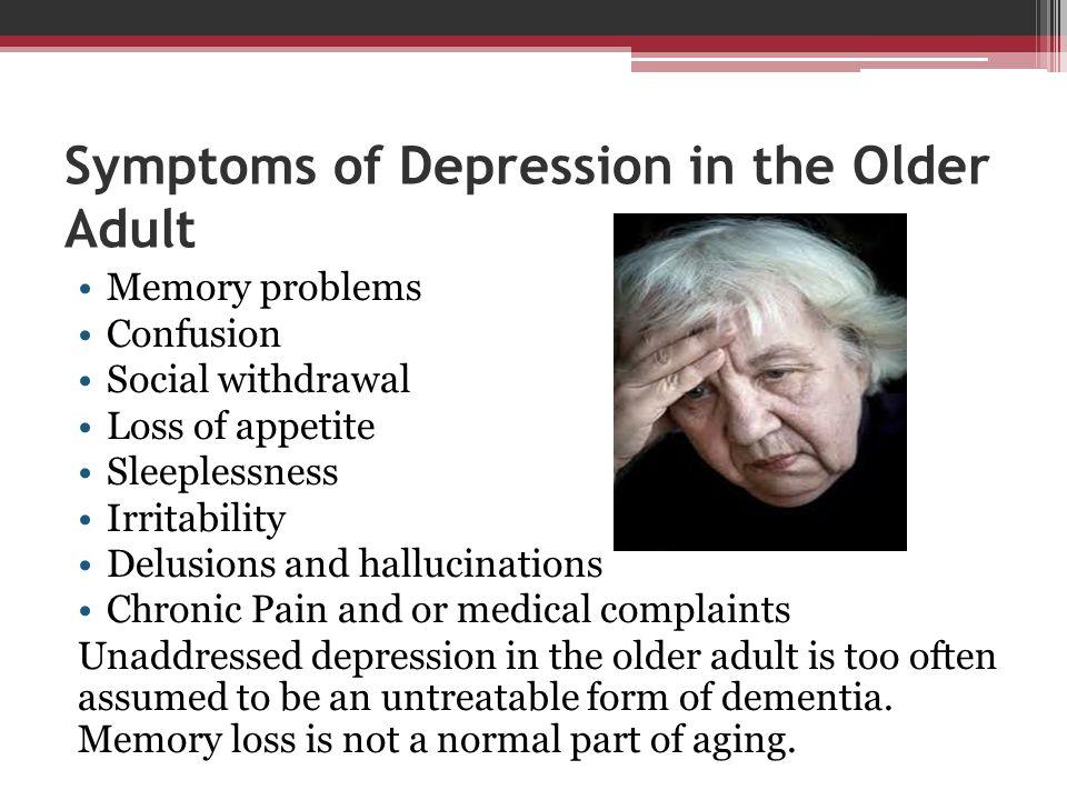 Symptoms of Depression in the Older Adult