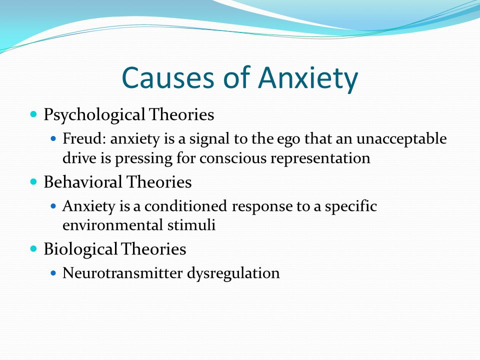 Causes of Anxiety Psychological Theories Behavioral Theories