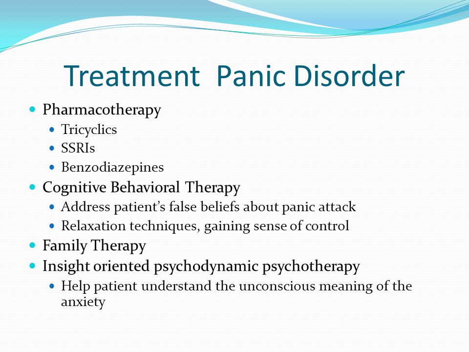 Treatment Panic Disorder