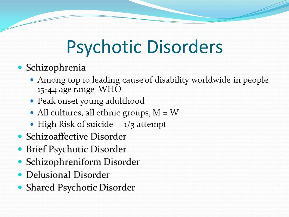 schizophrenia delusional disorder and higher power