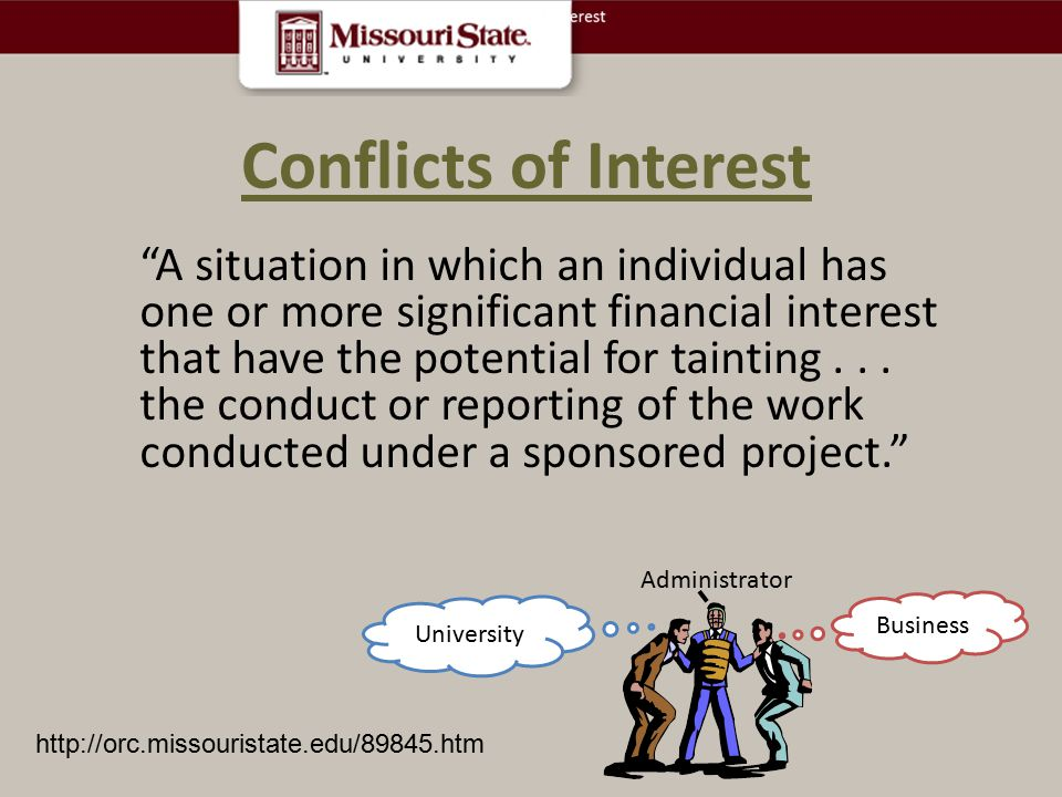 Conflicts of Interest.