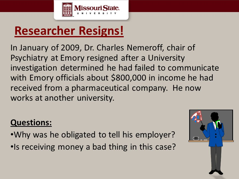 Researcher Resigns!
