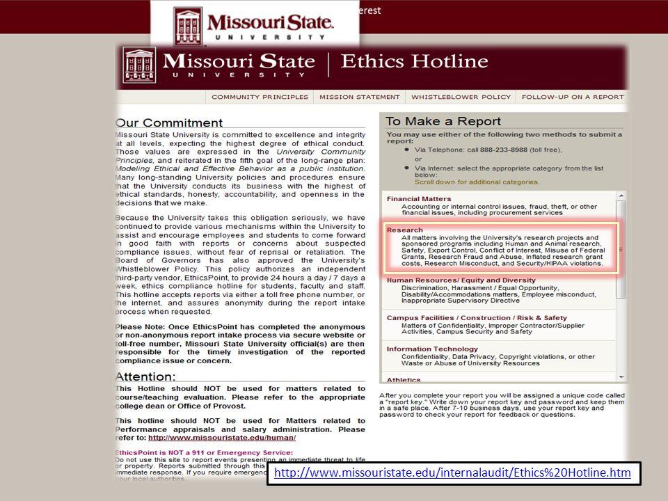 http://www.missouristate.edu/internalaudit/Ethics%20Hotline.htm.