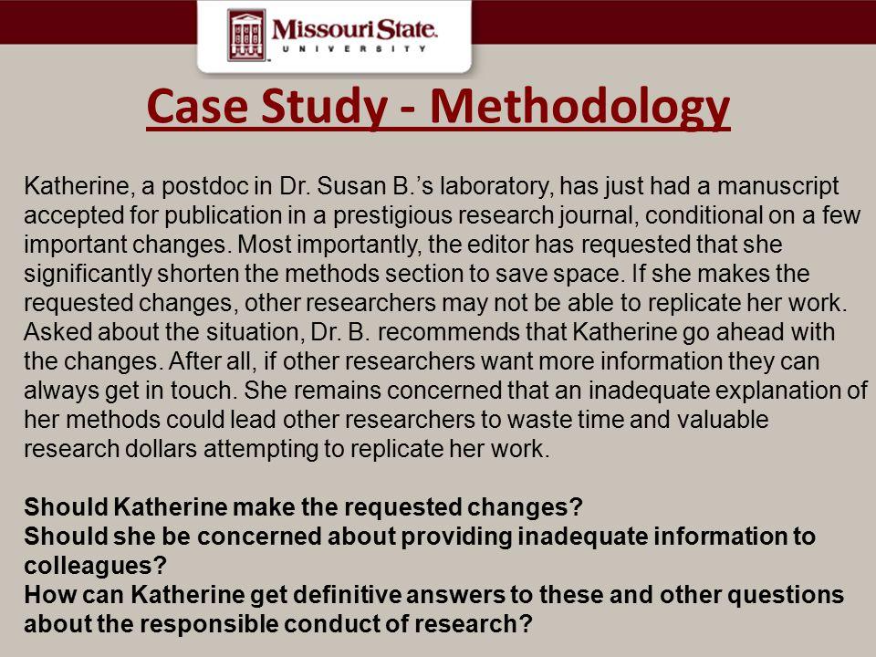 Case Study - Methodology