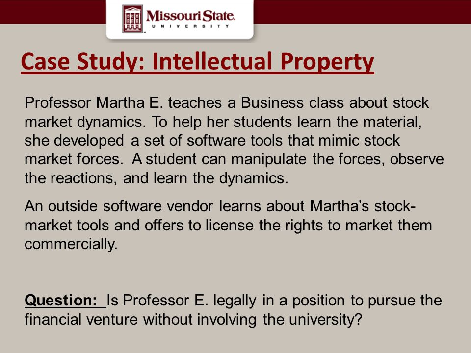 Case Study: Intellectual Property