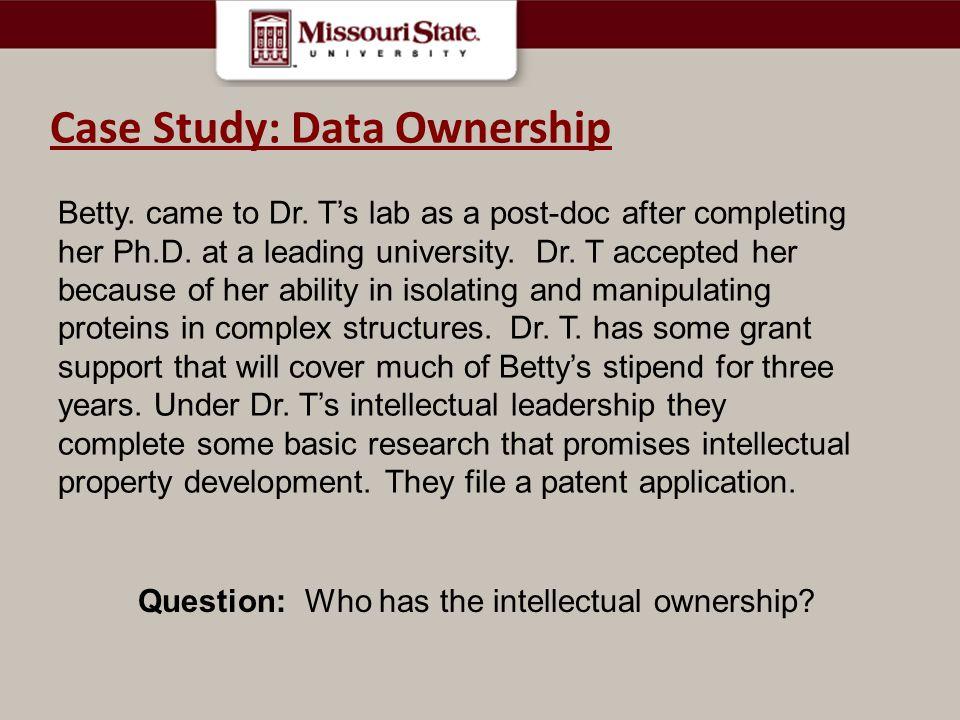 Case Study Case Study: Data Ownership