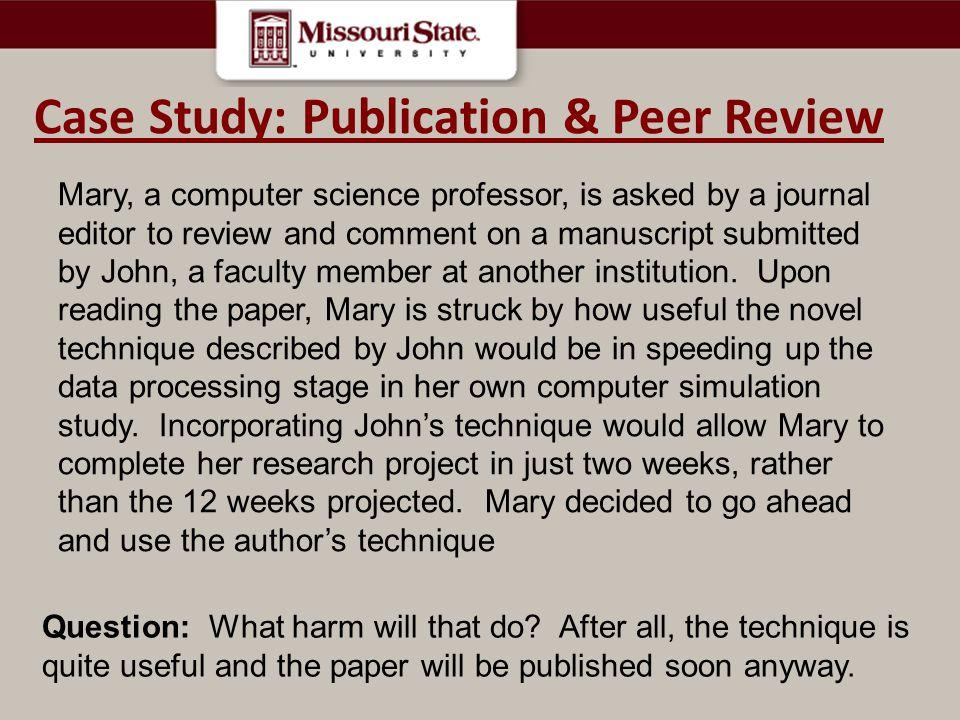 Case Study: Publication & Peer Review