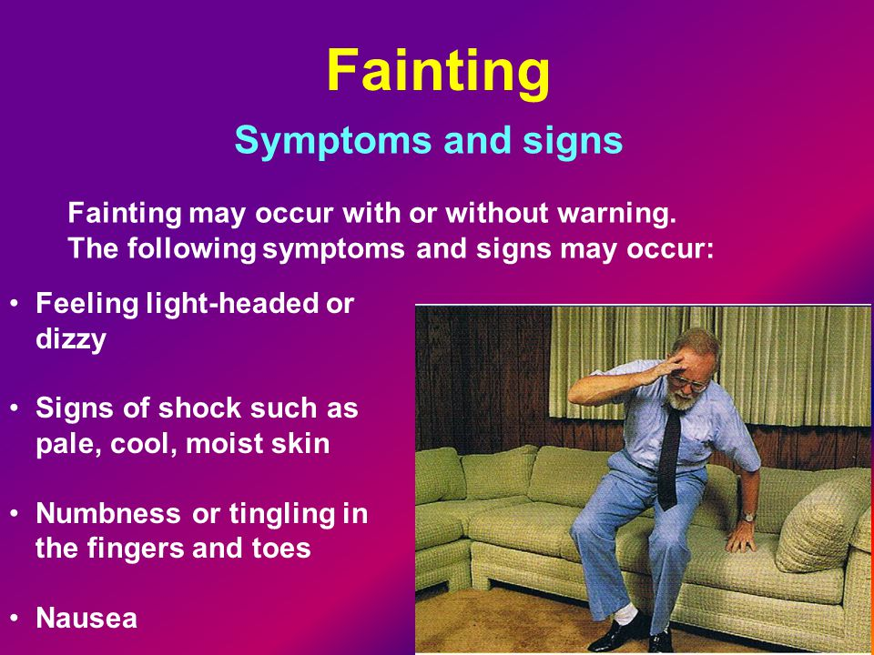 Fainting Symptoms and signs